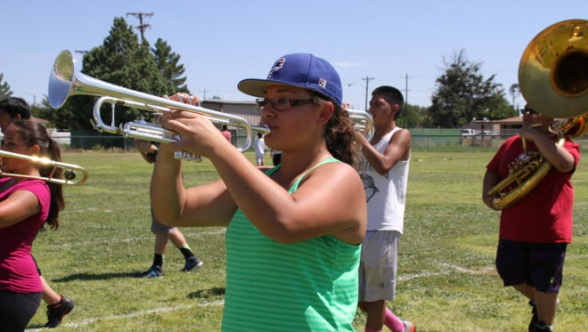 Kyleen Hensley and the Wildcat Marching Band spent summer days marching and rehearsing for the competitive marching band season.