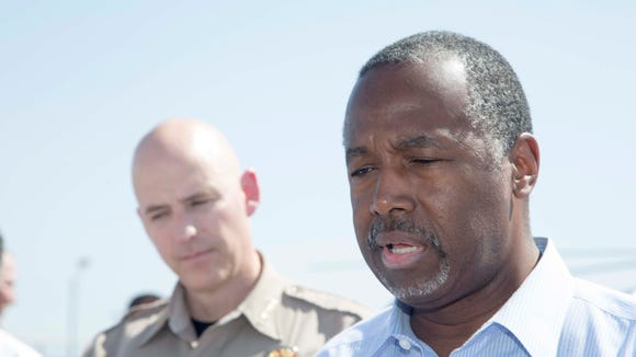 Dr. Ben Carson with Pinal County Sheriff Paul Babeu.