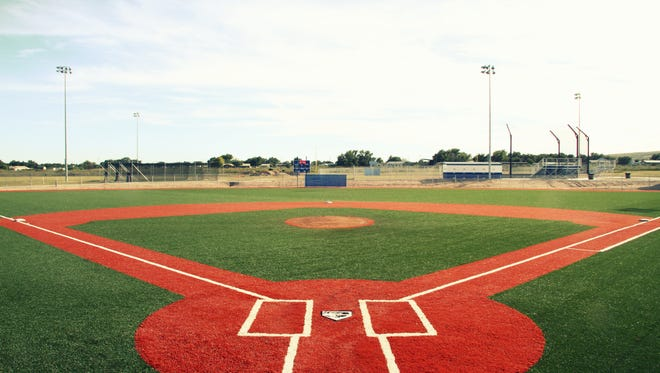 A baseball field at the Bob Forrest Youth Sports Complex in Carlsbad.
