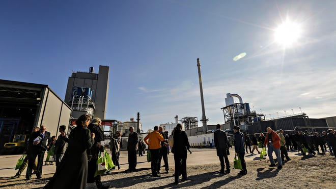 Guests at the opening of DuPont's new cellulosic ethanol facility in Nevada Friday, Oct. 30, 2015.