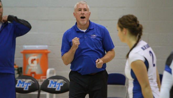 MTSU volleyball coach Matt Peck was fired Monday morning as athletics director Chris Massaro cited a declining winning percentage.