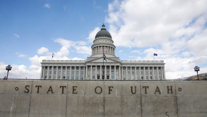 The Utah State Capitol is shown Wednesday, Nov. 11, 2015, in Salt Lake City. A small but unwavering group of mostly Republican state lawmakers are gathering in Utah to plan how legislatures would hold a convention to revise the U.S. Constitution. More than 80 legislators from 30 states are meeting Wednesday through Friday at the State Capitol for The Assembly of State Legislatures.