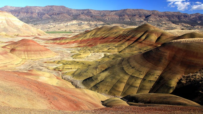 A view of the Painted Hills, a unit of the John Day Fossil Bed National Monument, is seen in Eastern Oregon.