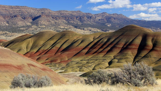A view of the Painted Hills, a unit of the John Day Fossil Bed National Monument, in Eastern Oregon.