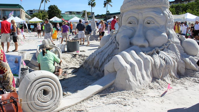 The annual American Sand Sculpting Championship on Fort Myers Beach is one of this weekend's many family-friendly events.