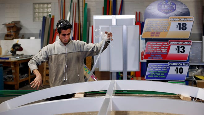 Syria refugee Nedal Al-Hayk works as a fabricator in Warren, Mich. Several U.S. governors are threatening to halt efforts to allow Syrian refugees into their states in the aftermath of the coordinated attacks in Paris, though an immigration expert says they have no legal authority to do so.