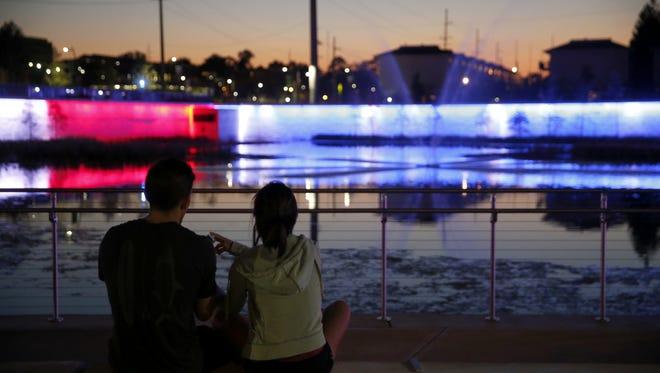 City commissioners named this plaza Anita Favors Thompson Plaza at Lake Anita on Thursday night.