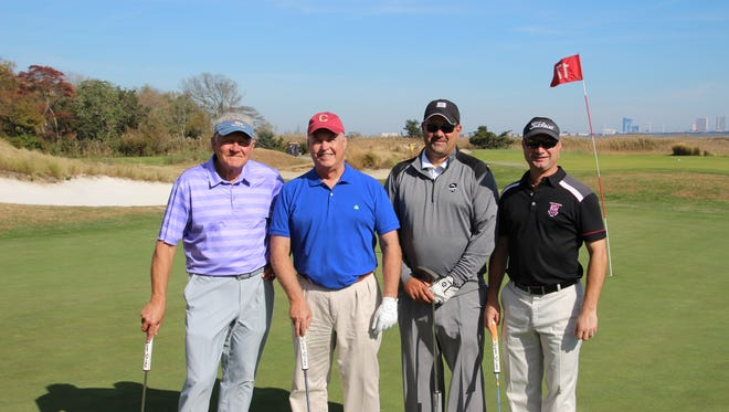 The Ellison School recently hosted its 21st annual golf tournament at the Atlantic City Country Club. Golfers enjoyed a view of the Atlantic City skyline as they played and supported the school. (From left) Norm Neil, Doug Smithson, Fred Cristelli and Kevin Frank were among the tournament participants.