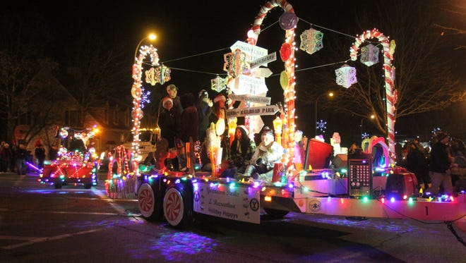 The 4th annual Yorktown Holiday Electric Lights parade makes its way along Commerce Street in Yorktown Dec. 5, 2015. The parade is sponsored by the town of Yorktown along with the Yorktown and Lake Mohegan fire departments. The parade ended at the Jack DeVito Memorial Field where a Christmas tree lighting ceremony was held.