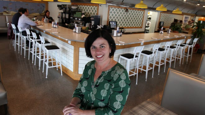 Amy Russo Harrigan, owner of Toast, stands inside her newest location in Red Bank.