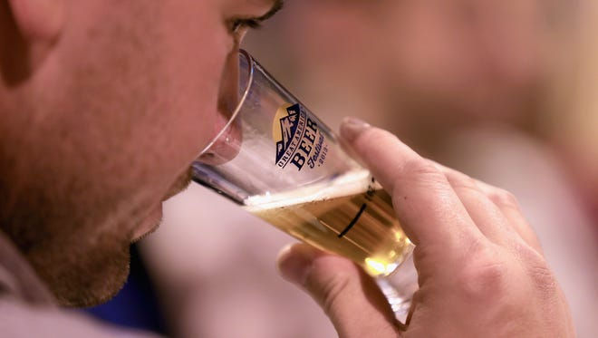 A beer is sampled at the Great American Beer Festival.
