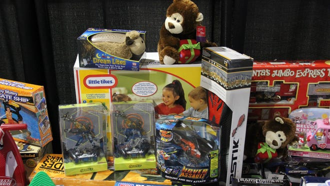 Toys of all kinds were collected during a Golf Fore Kids tournament in 2012. Anyone can see the Christmas spirit growing as the holiday nears.