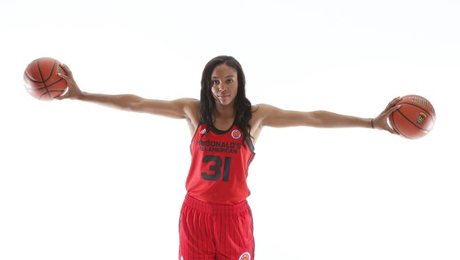 Cal's Kristin Anigwe of Phoenix is second in Pac-12 women's basketball scoring with a 21-point average.