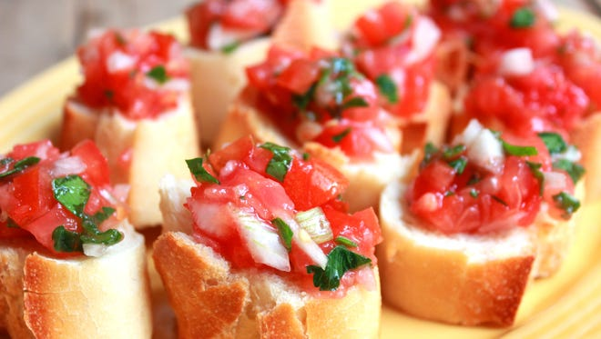 Looking for a fresh idea for a party appetizer, try Bruschetta. Prep time is short and it tastes amazing.