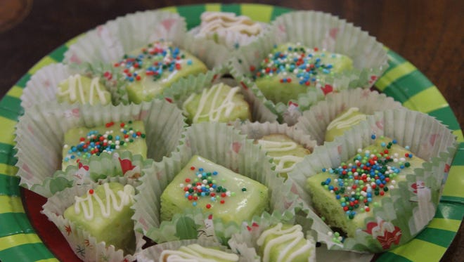 Suzanne Byrnes' Lemon Drop cookies decorated for Christmas