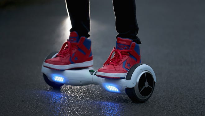 The famous, and somewhat infamous, hoverboard.