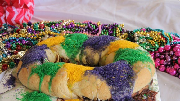 Great Harvest Bread Company in Lafayette is known for its whole wheat king cakes.