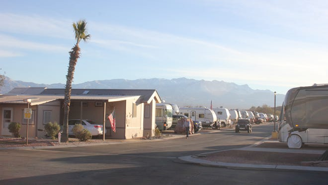 Many people stay in RV parks while looking for a home in Virgin Valley.