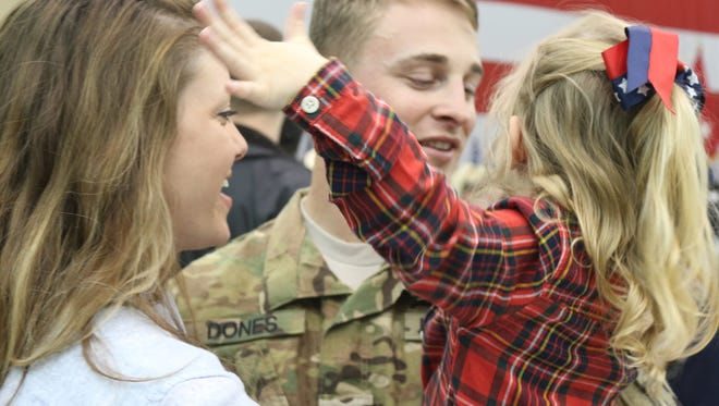 More than 200 soldiers with the 101st Combat Aviation Brigade were welcomed home in January at Fort Campbell.