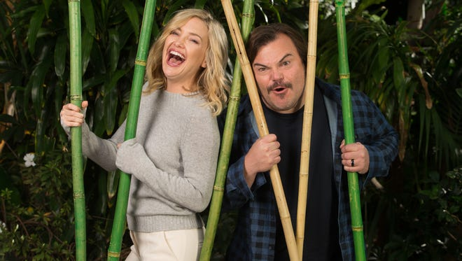 Jack Black and Kate Hudson, two of the panda vocal stars of 'Kung Fu Panda 3.'