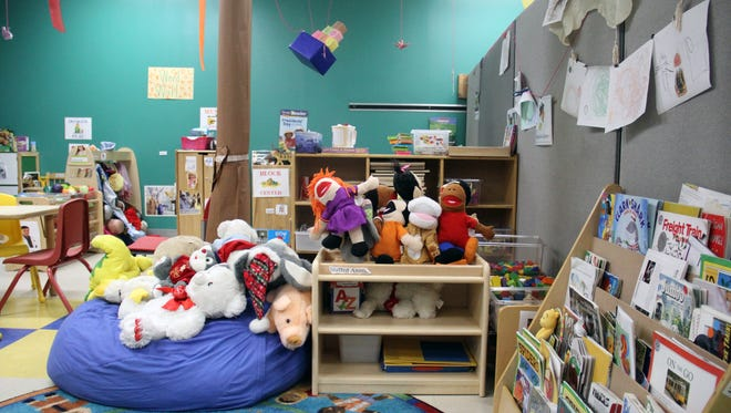 A classroom at Global Connections child care center in Jackson., which relies on grants and nonprofits to help purchase classroom materials and furniture.