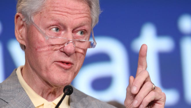 Former President Bill Clinton gives the closing remarks Tuesday at the 2014 Health Matters conference held by the Clinton Foundation at La Quinta Resort & Club.