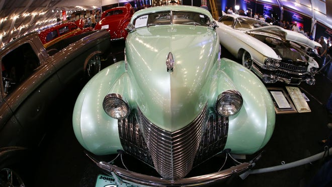 "1940 Cadillac Series 62 Custom Coupe ""Sophia"" on display in the Salon Showcase at the Barrett-Jackson collector-car auction on Wednesday, Jan. 27, 2016 in Scottsdale."