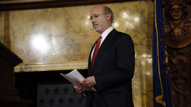Pennsylvania Gov. Tom Wolf is making his pitch for education funding in the next budget, while funding in the current budget remains in limbo.