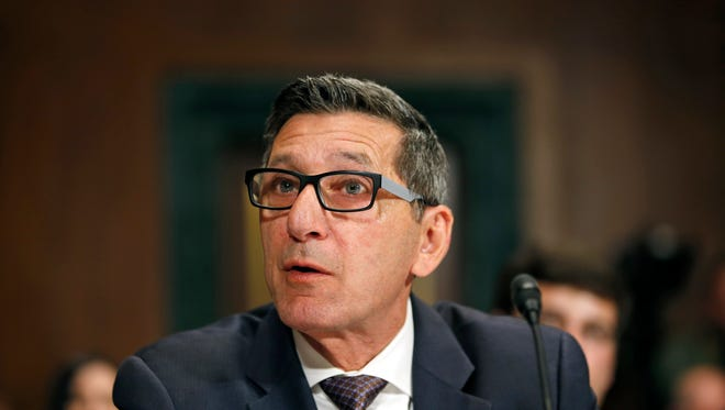 Michael Botticelli, director of the Office of National Drug Control Policy, testifies during a Senate Judiciary Committee hearing on attacking America's epidemic of heroin and prescription drug abuse on, Jan. 27, 2016.