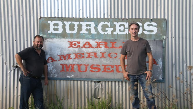 History Channel's American Pickers Frank Fritz, left, and Mike Wolfe visited the Eastern Shore Early Americana Museum in Marion Station.