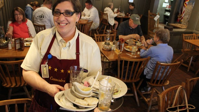 Cassandra Kelly is a server at Cracker Barrel and Kelsey's Pizzeria Eatery.
