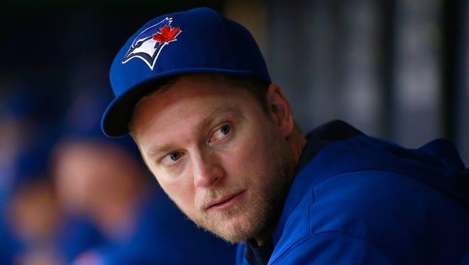 Toronto Blue Jays right fielder Michael Saunders (21) at Tropicana Field in October.
