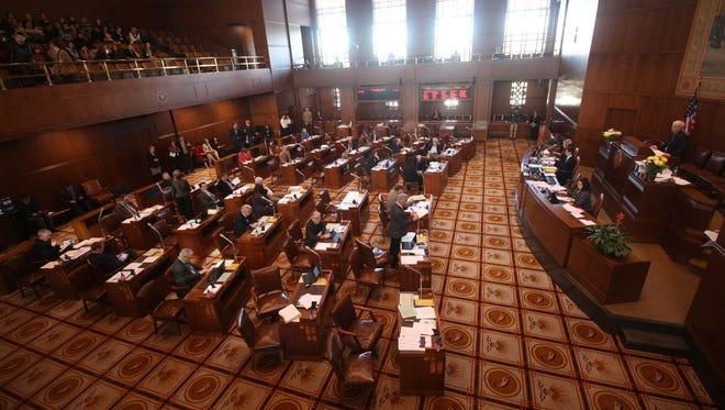 The Oregon Senate floor in 2016.