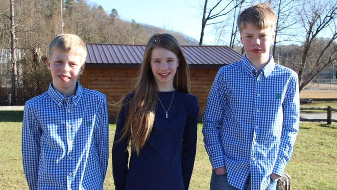 Harris, Elizabeth and Andrew Rowe are 12 years old today, though this is only their third birthday, technically.
