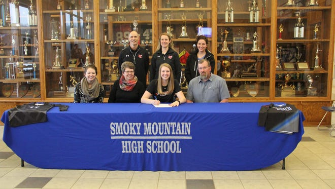 Smoky Mountain senior Ramsey Fulmer has signed to play volleyball for Catawba Valley Community College.