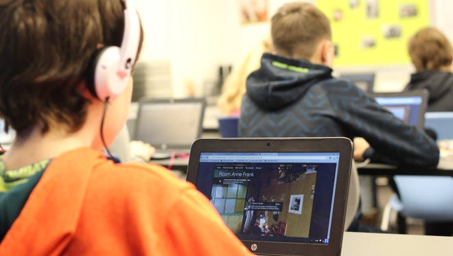 "Wainwright Middle School students read the ""Diary of Anne Frank,"" then take a virtual tour exploring what the hiding place."