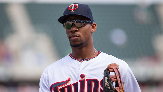 Byron Buxton struggled in his 138 plate appearances with the Twins in 2015, hitting .209.
