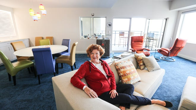 Debbie Tanner in her condo at the The Harbours in Jeffersonville.March 11, 2016