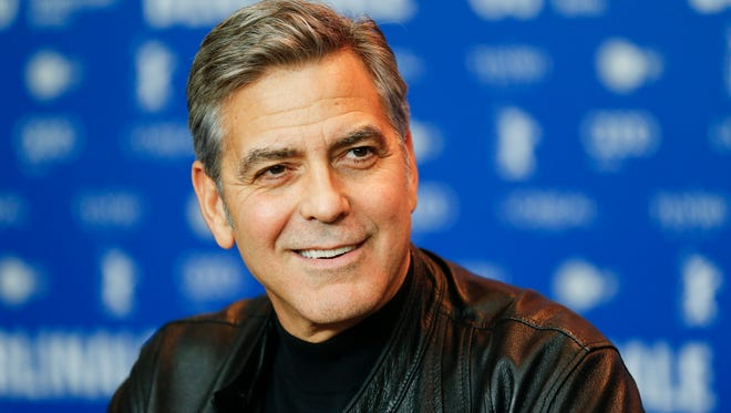 Actor George Clooney attends a press conference for the film 'Hail Caesar' at the 2016 Berlinale Film Festival in Berlin, Feb. 11.