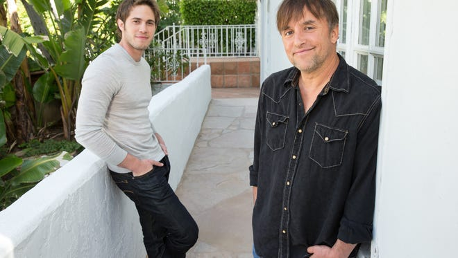 Richard Linklater (right), writer/director of 'Everybody Wants Some!!' and his star Blake Jenner.
