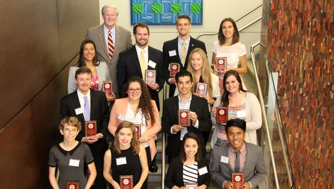The Humanitarian of the Year Award was presented to 14 undergraduate students. One overall winner will be selected at Tuesday's Leadership Awards Night.