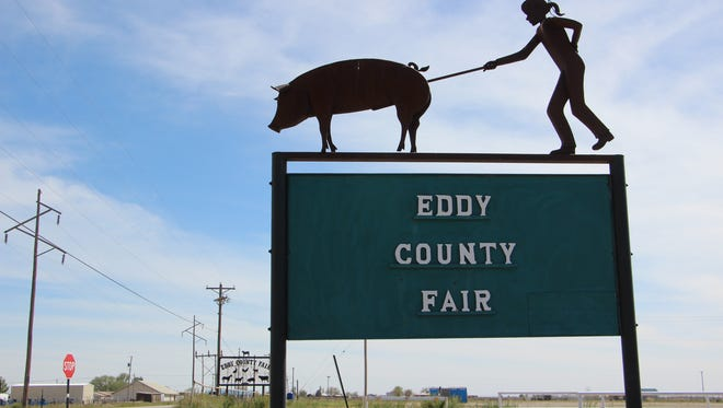 The sign outside of the Eddy County Fairgrounds Community Center.