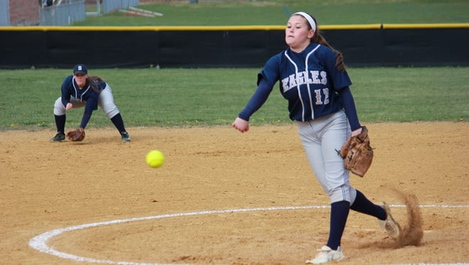 Maddie McMahon of Middletown South struck out four over six innings of four hit ball Friday.