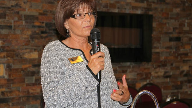 Rep. Yvette S. Herrell, R-Dist. 51, is seeking a fourth term, she spoke to voters at the Republican Party of Otero County Friday morning.