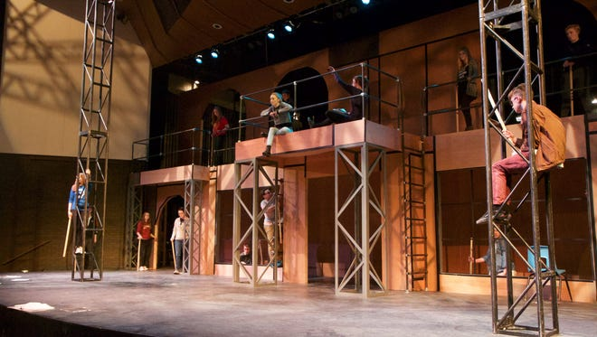 "Neenah High School students prepare for their upcoming production of ""After Juliet,"" which will open Thursday night."