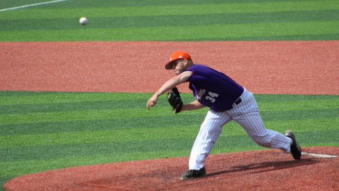 Northwestern State's Chase Hymel took the loss in Saturday's game.