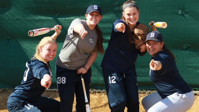 Ciara Sullivan (left), Julie Blarr, Maddie McMahon, and Ally Massa (right) of Middletown South.