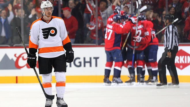The Washington Capitals scored a pair of goals to beat Michael Raffl and the Flyers 2-0. The bigger loss may be not having Sean Couturier.