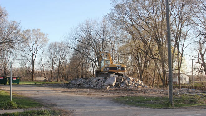 The Ladora hotel is no more, as a pile of rubble remains after the building was razed last week.