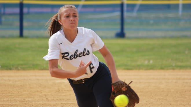 Linda Rizzo of Howell helped the Rebels earn a 7-1 MCT victory over Colts Neck Monday.